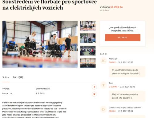 Podpořte Powerchair Hockey kemp na Donio